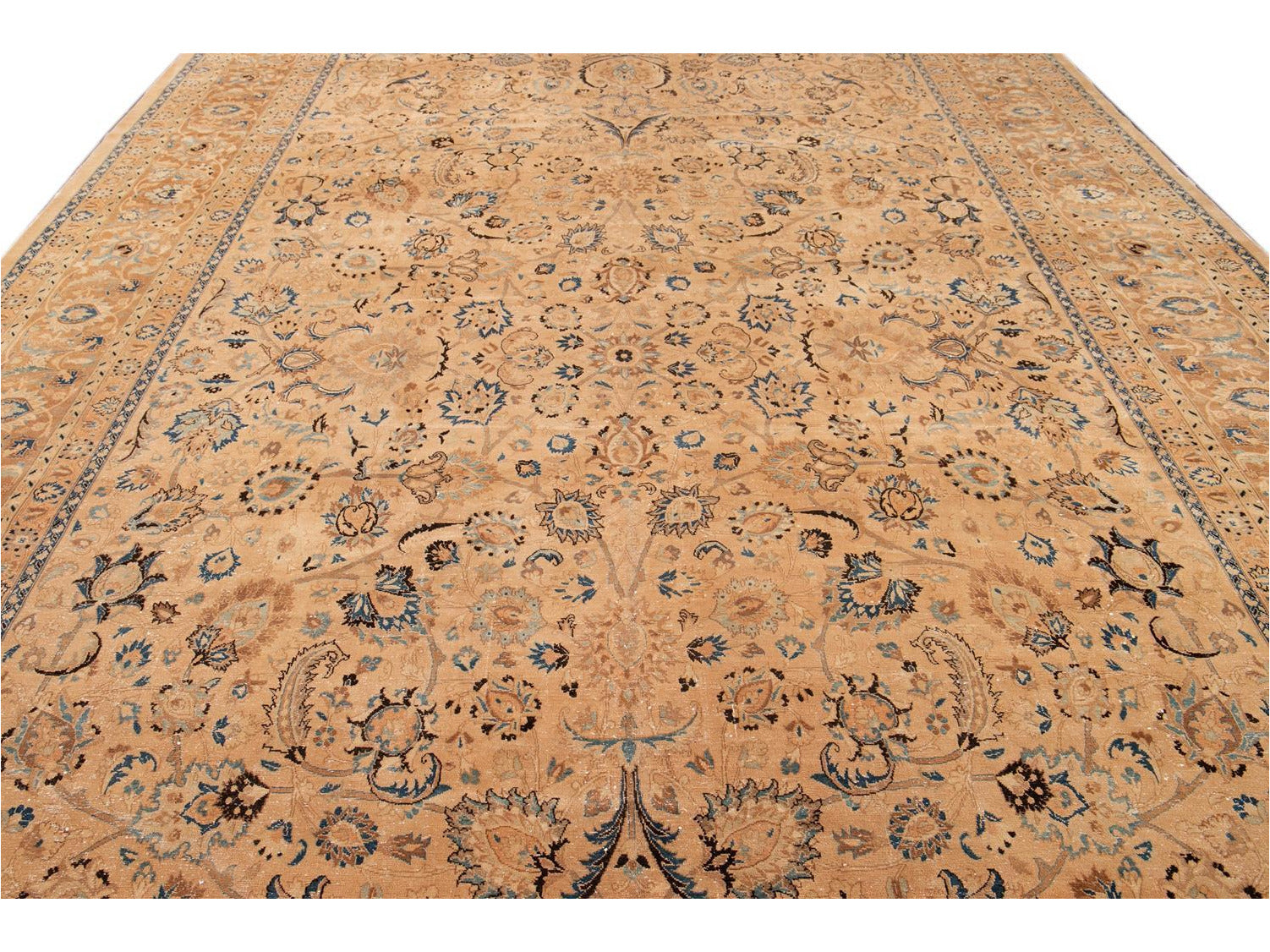 Early 20th Century Antique Tabriz Wool Rug, 11' x 17'