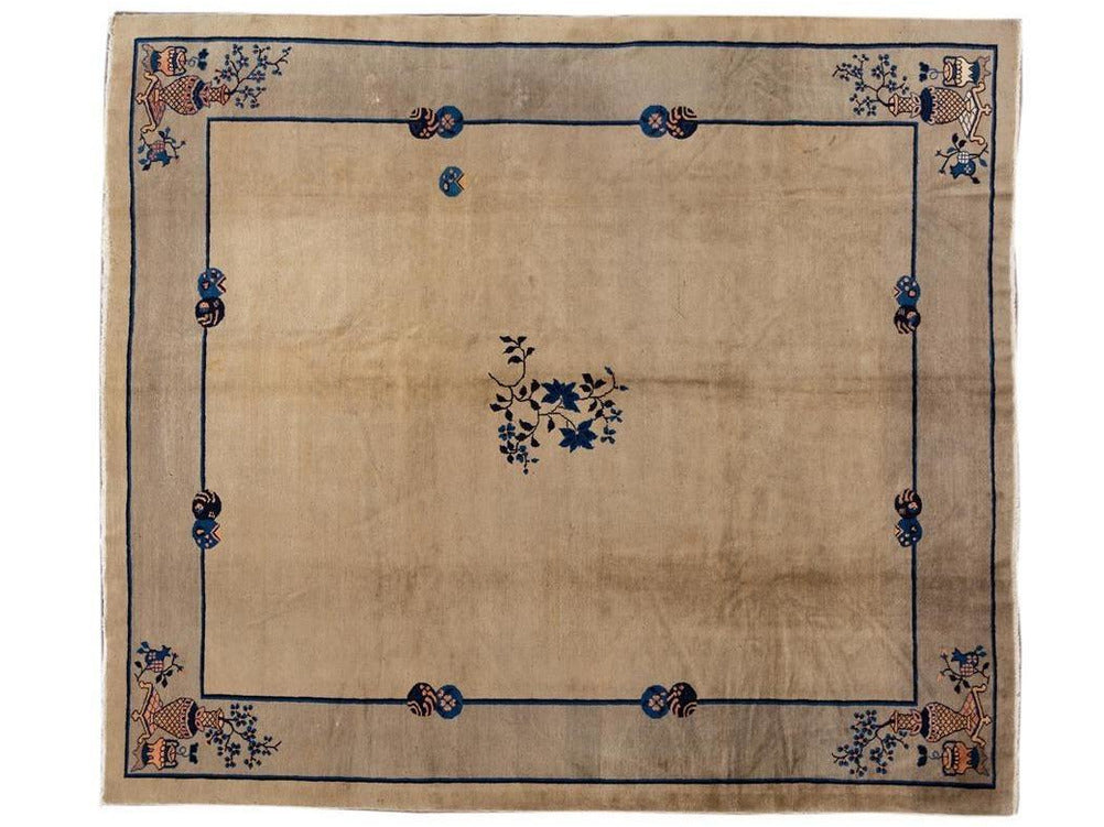 Antique Chinese Peking Wool Rug 10 X 11