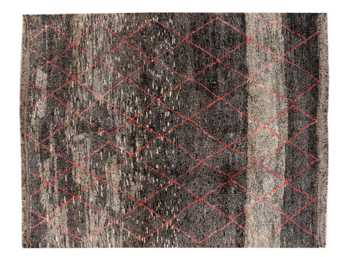 21st Century Contemporary  Moroccan Wool Rug, 11 X 13