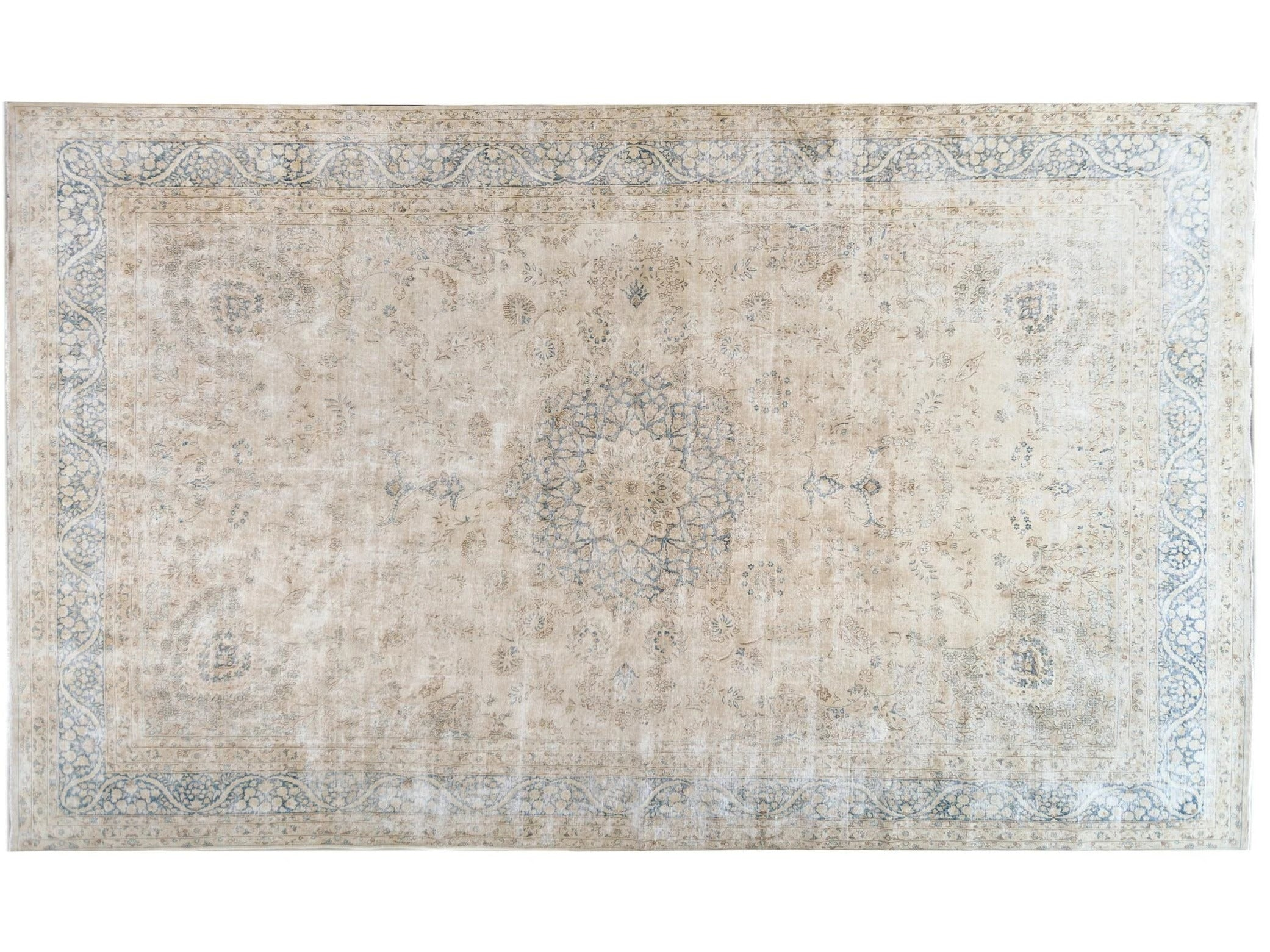 Early 20th Century Antique Oversize Kerman Wool Rug
