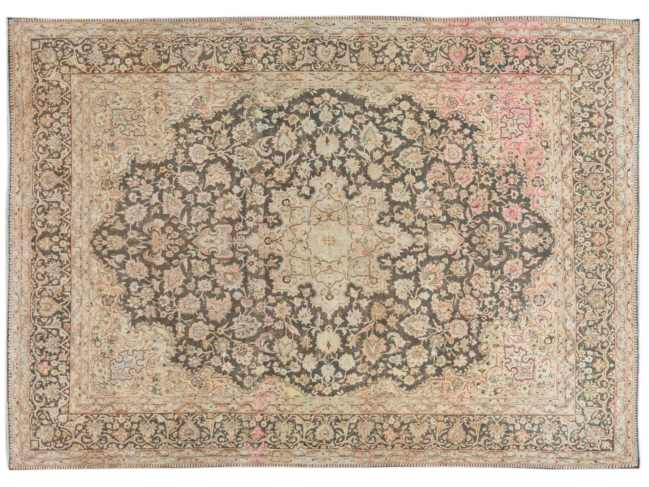Mid 20th Century Vintage Distressed Wool Rug