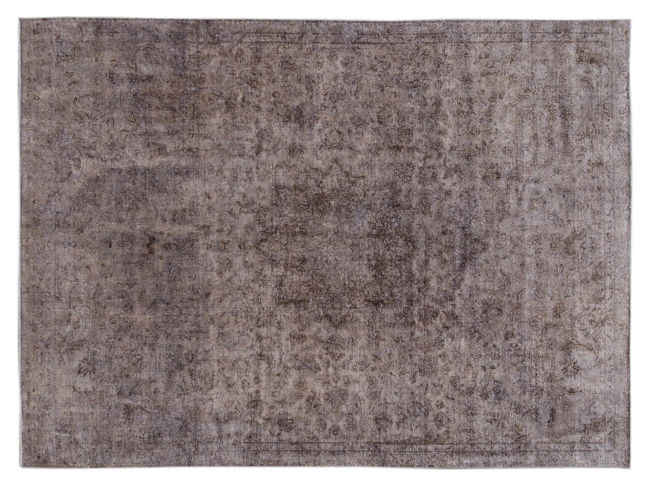 Mid 20th Century Vintage Distressed Wool Rug 8 X 10
