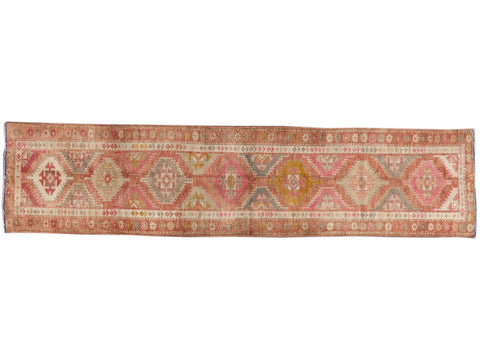 Early 20th Century Anatolian Village Runner Rug 3 X 12