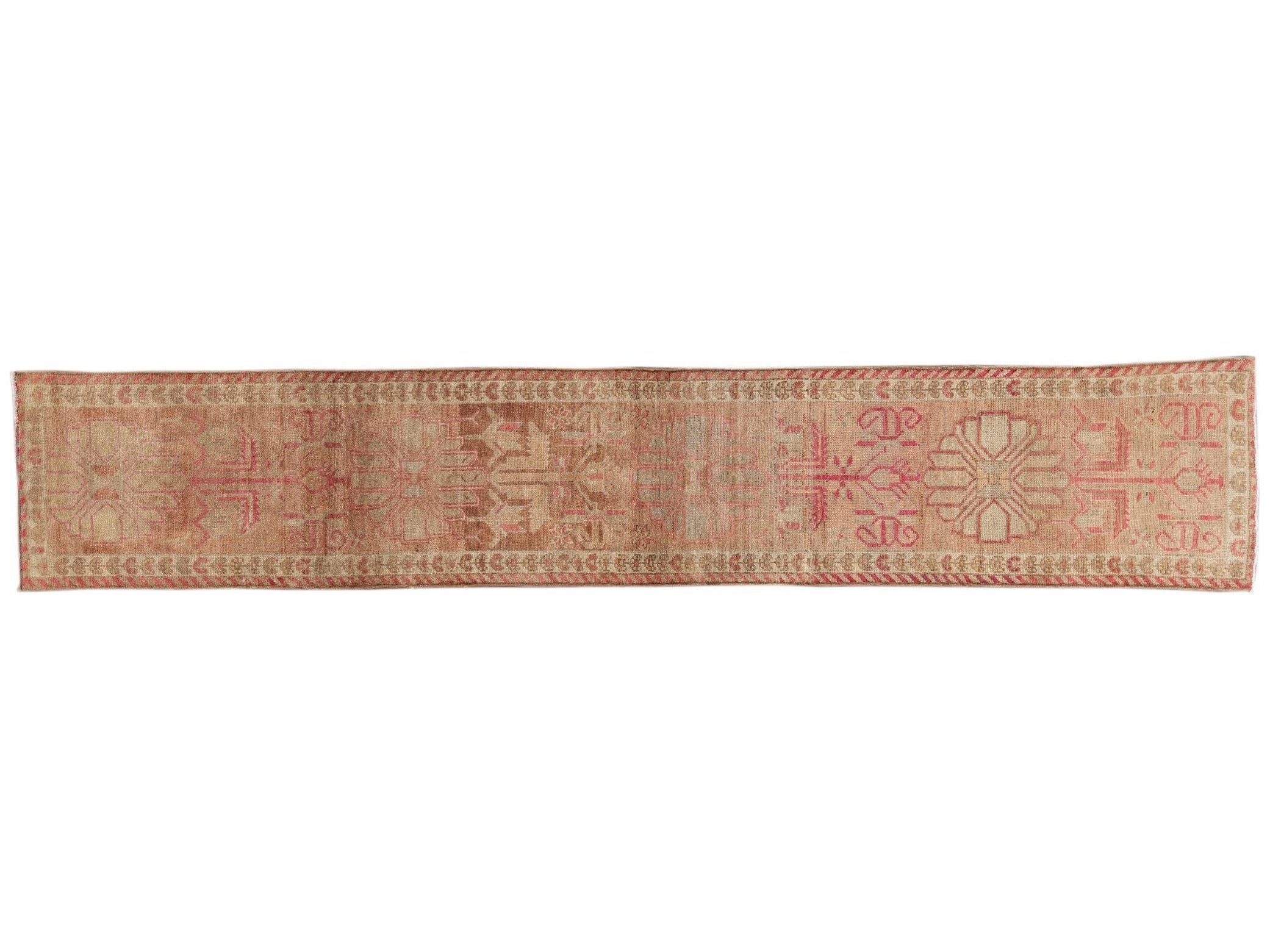 Early 20th Century Vintage Anatolian Runner Rug, 3 x 15