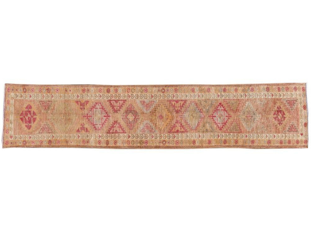 Early 20th Century  Anatolian Village Runner Rug 3 X 13