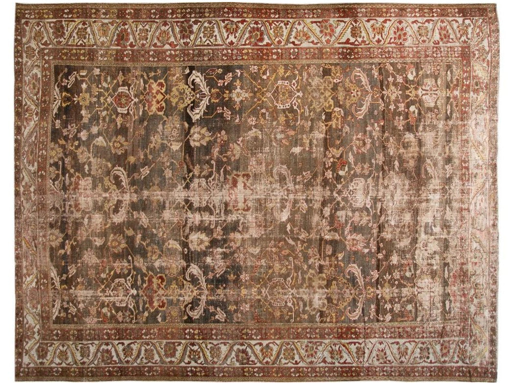 Early 20th Century Antique Bakhtiari Wool Rug 13 X 18