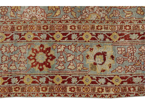 Early 20th Century Antique Tabriz Wool Rug 9 X 13