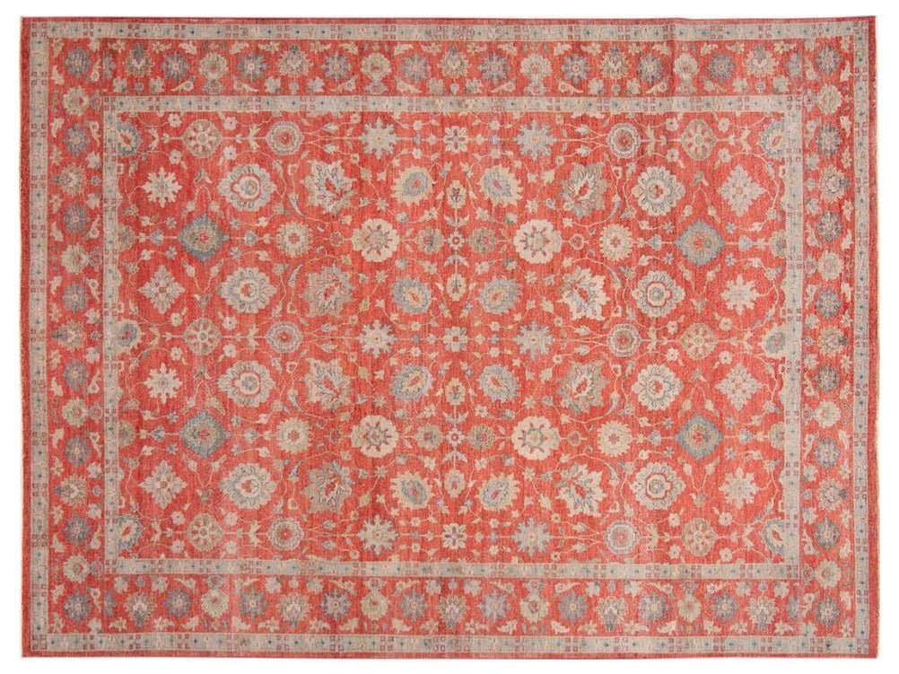 21st Century Modern Indian Wool Rug 9 X 12