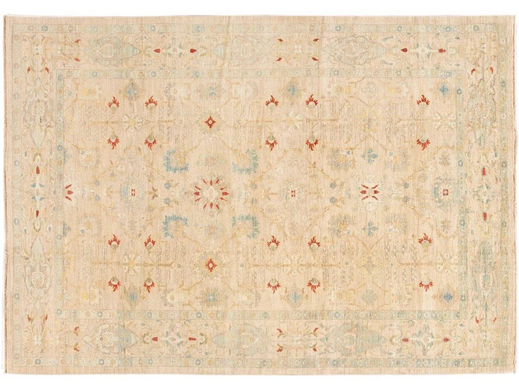 Contemporary Sultanabad Wool Rug 9 X 13
