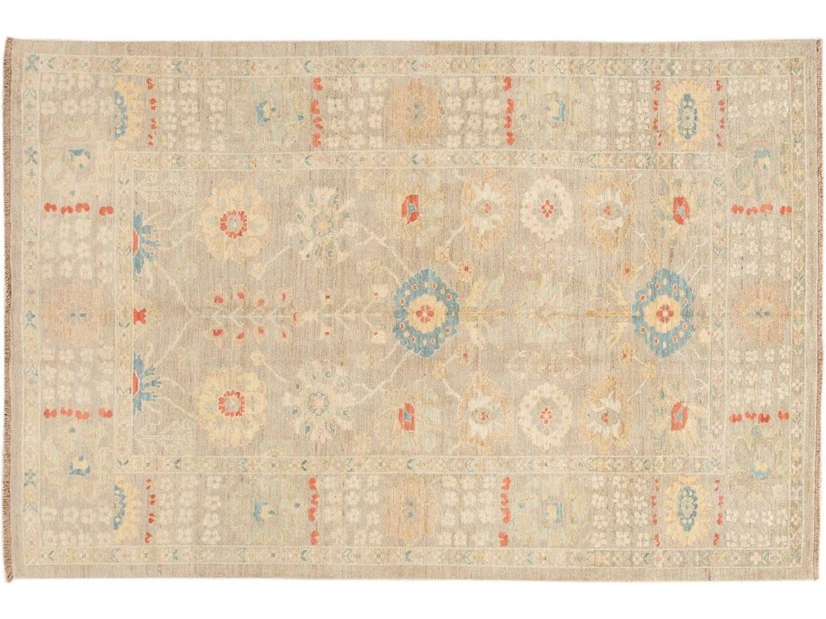 Contemporary Sultanabad Wool Rug 7 X 10