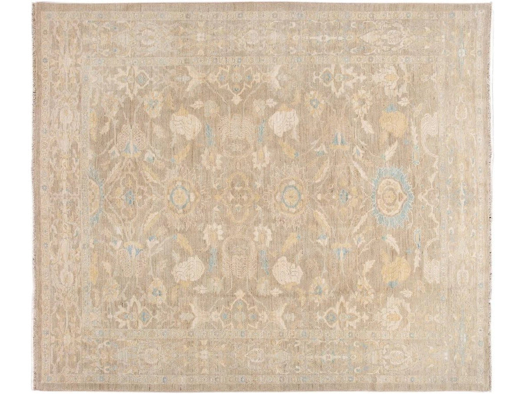 21st Century Modern Sultanabad Wool Square Rug  10 X 12