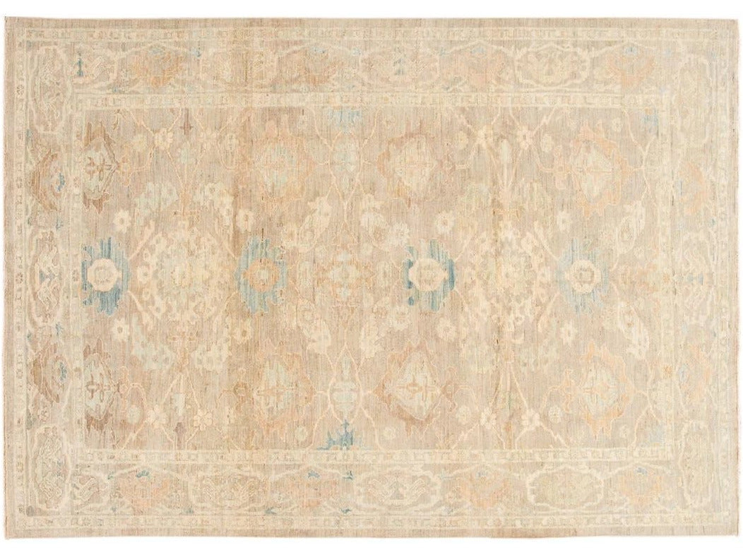 Contemporary Sultanabad Wool Rug 8 X 12