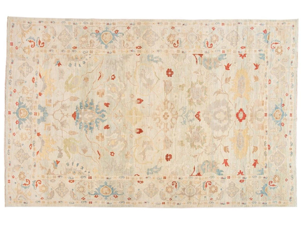 Modern Sultanabad Oversize Wool Rug 12 X 19