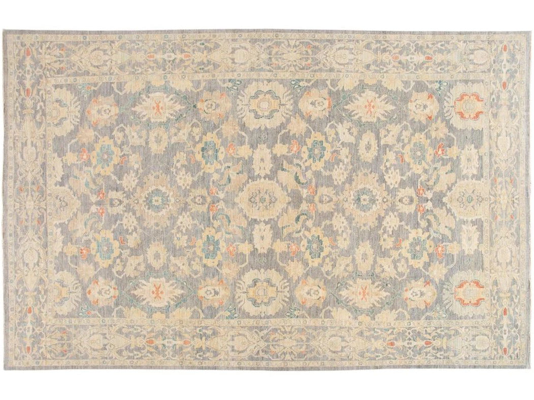 Modern Sultanabad Oversize Wool Rug 12 X 18