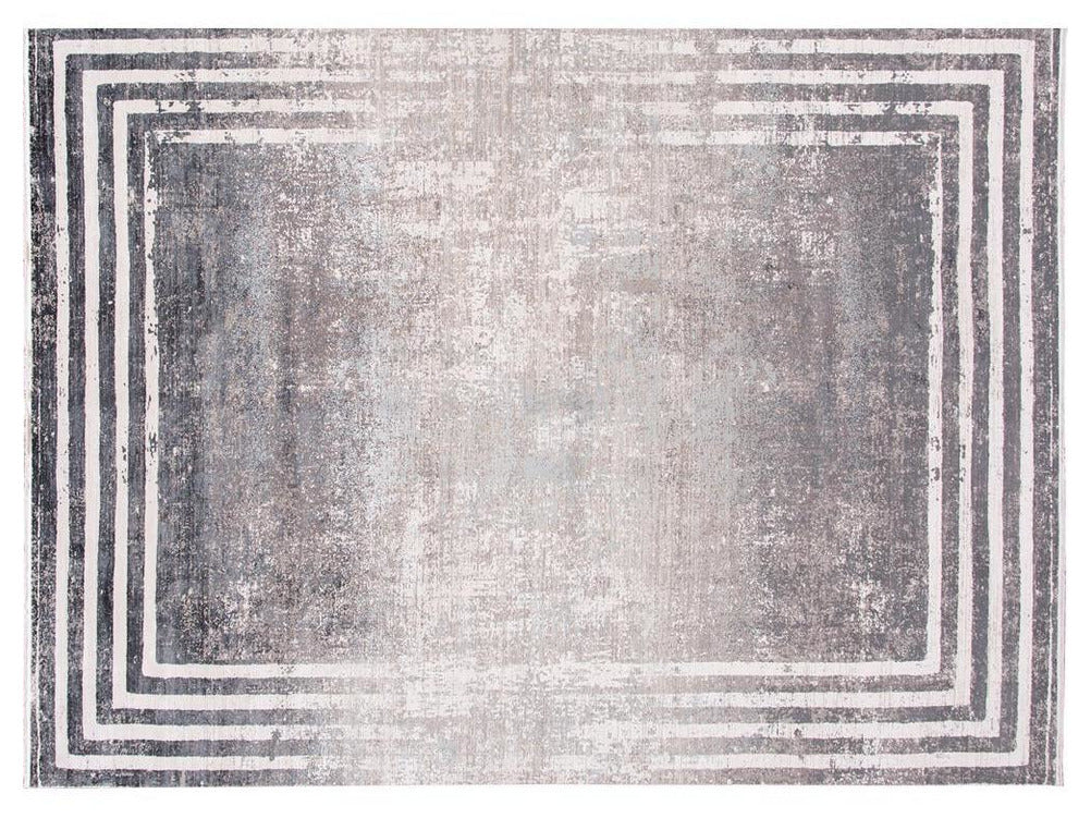 Contemporary Wool and Silk Rug 10 X 13