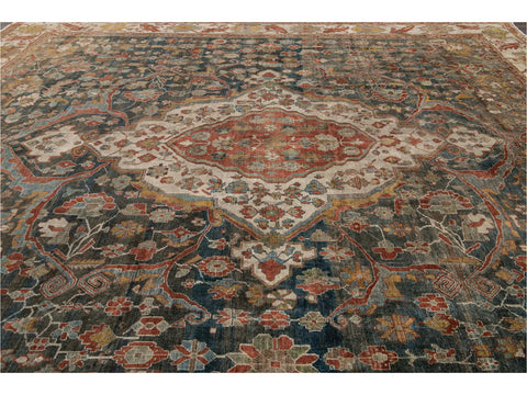 Early 20th Century Antique Persian Malayer Rug 14 X 14