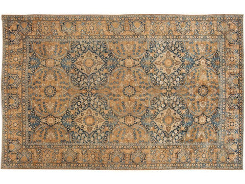 Early 20th Century Antique Persian Kirman Rug 10 X 15