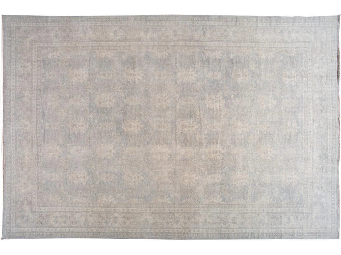 21st Century Indian Oushak Style Wool Rug 16 X 24
