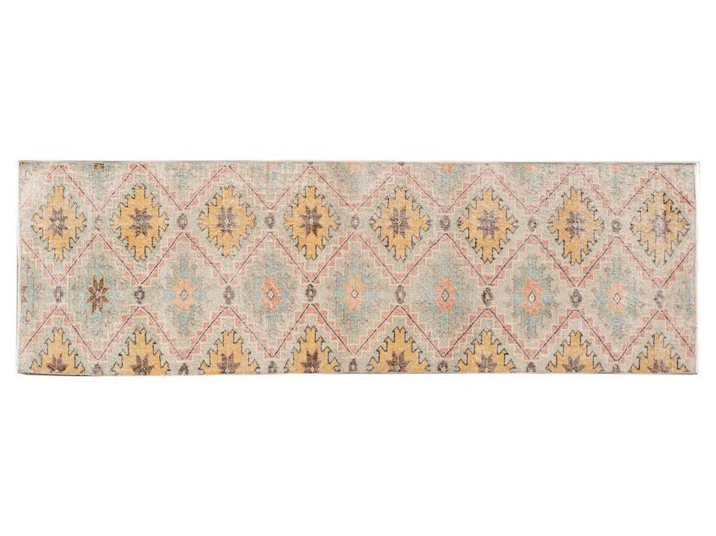 Vintage Turkish Wool Runner 3 X 9