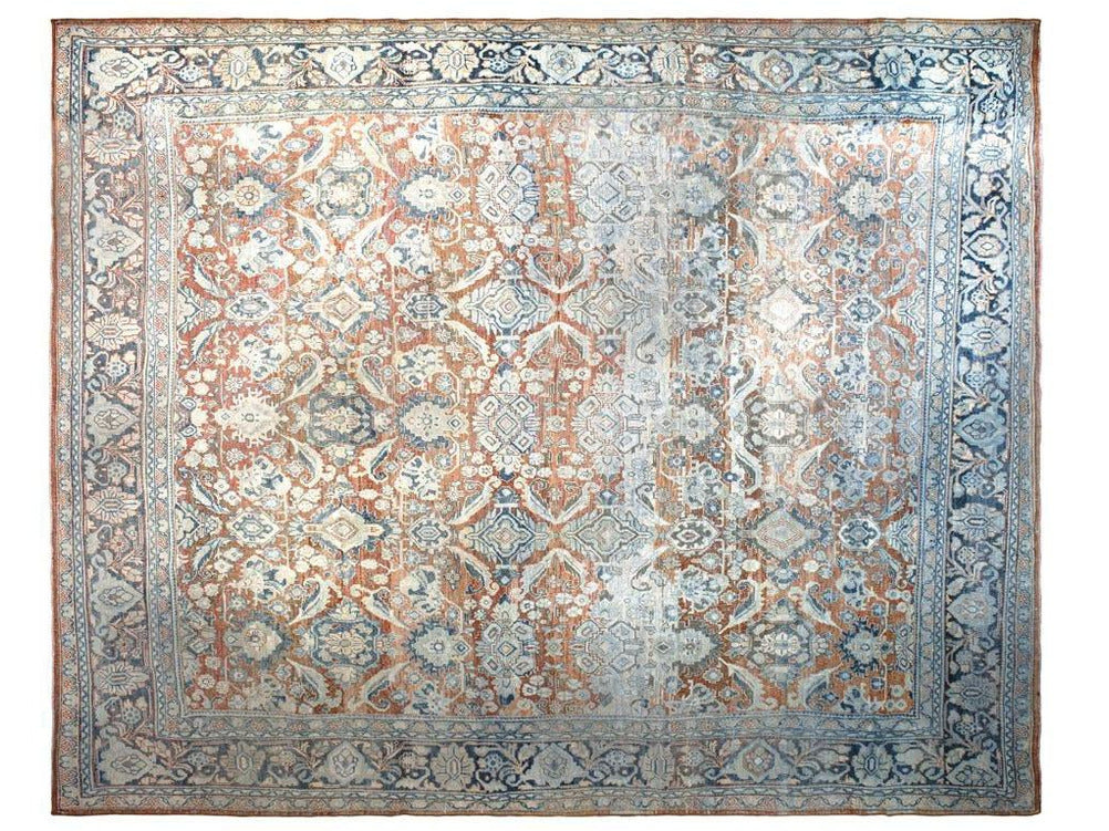 Early 20th Century Antique Mahal Wool Rug 10 X 12