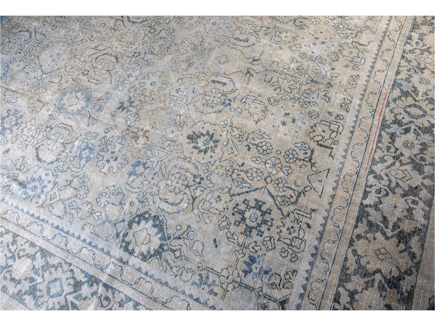 Early 20th Century Antique Mahal Wool Rug 10 X 13