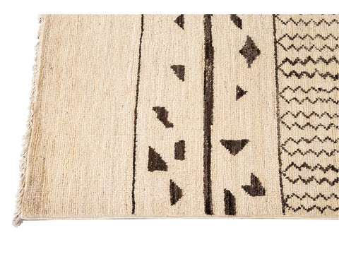 21st Century Contemporary Moroccan Style Wool Rug 9 X 12