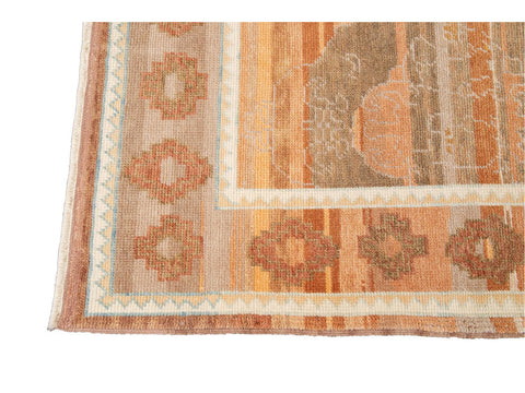 21st Century Contemporary Modern Oushak Wool Rug 9 X 13
