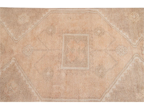 Mid-20th Century Vintage Turkish Wool Runner Rug 3' x 12'