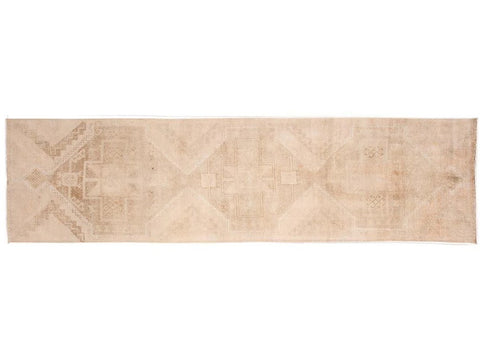 Mid-20th Century Vintage Wool Runner Rug, 3' x 11'