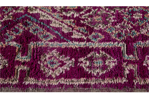 Mid-20th Century Vintage Purple Tribal Moroccan Wool Rug, 6 x 9