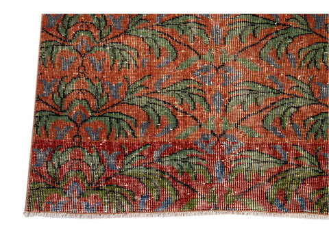 Vintage Art Deco Wool Runner 3 X 6