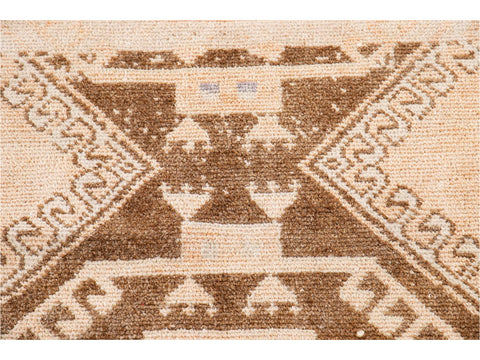 Early 20th Century Vintage Turkish Wool Runner Rug, 3 X 9