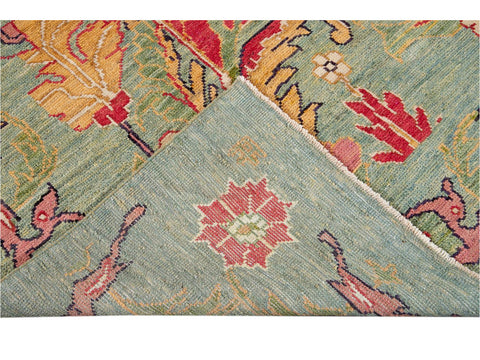 Modern Oushak Colorful Wool Rug 8 X 12