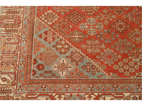Early 20th Century Antique Joshegan Persian Wool Rug 7 X 10