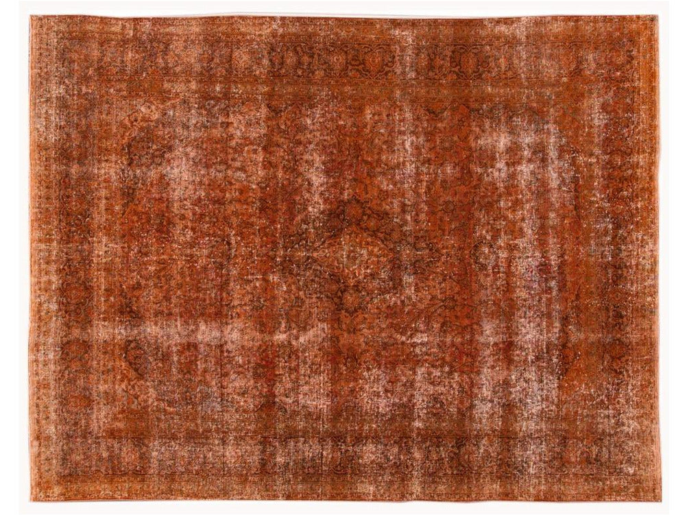 Vintage OverDyed Room Size Wool Rug 10 X 13