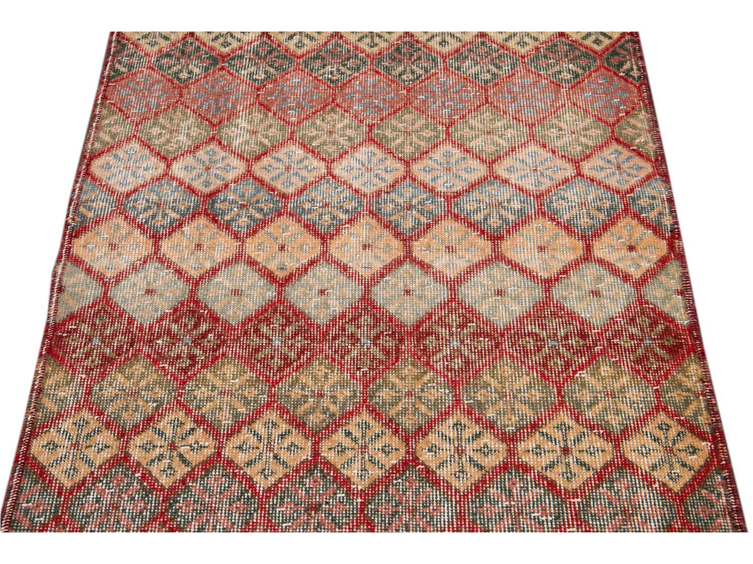 Vintage Turkish Scatter Wool Rug 3 X 6