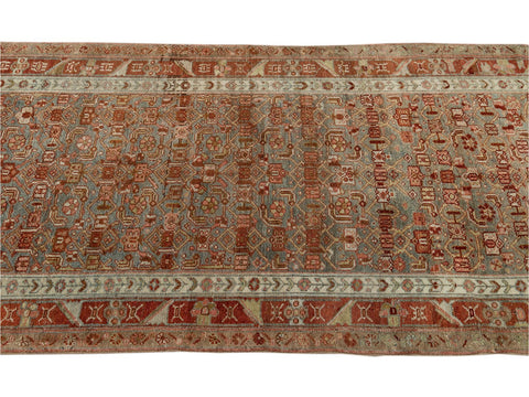 Early 20th Century Antique Malayer Wool Runner Rug, 3' x 16'