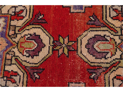 Early 20th Century Vintage Turkish Wool Runner Rug, 3 X 8