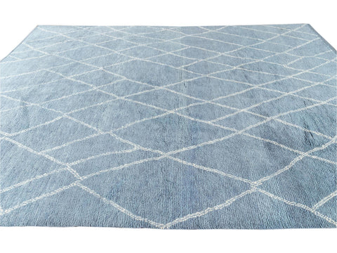 21st Century Modern Moroccan-Style Wool Rug 9 X 12