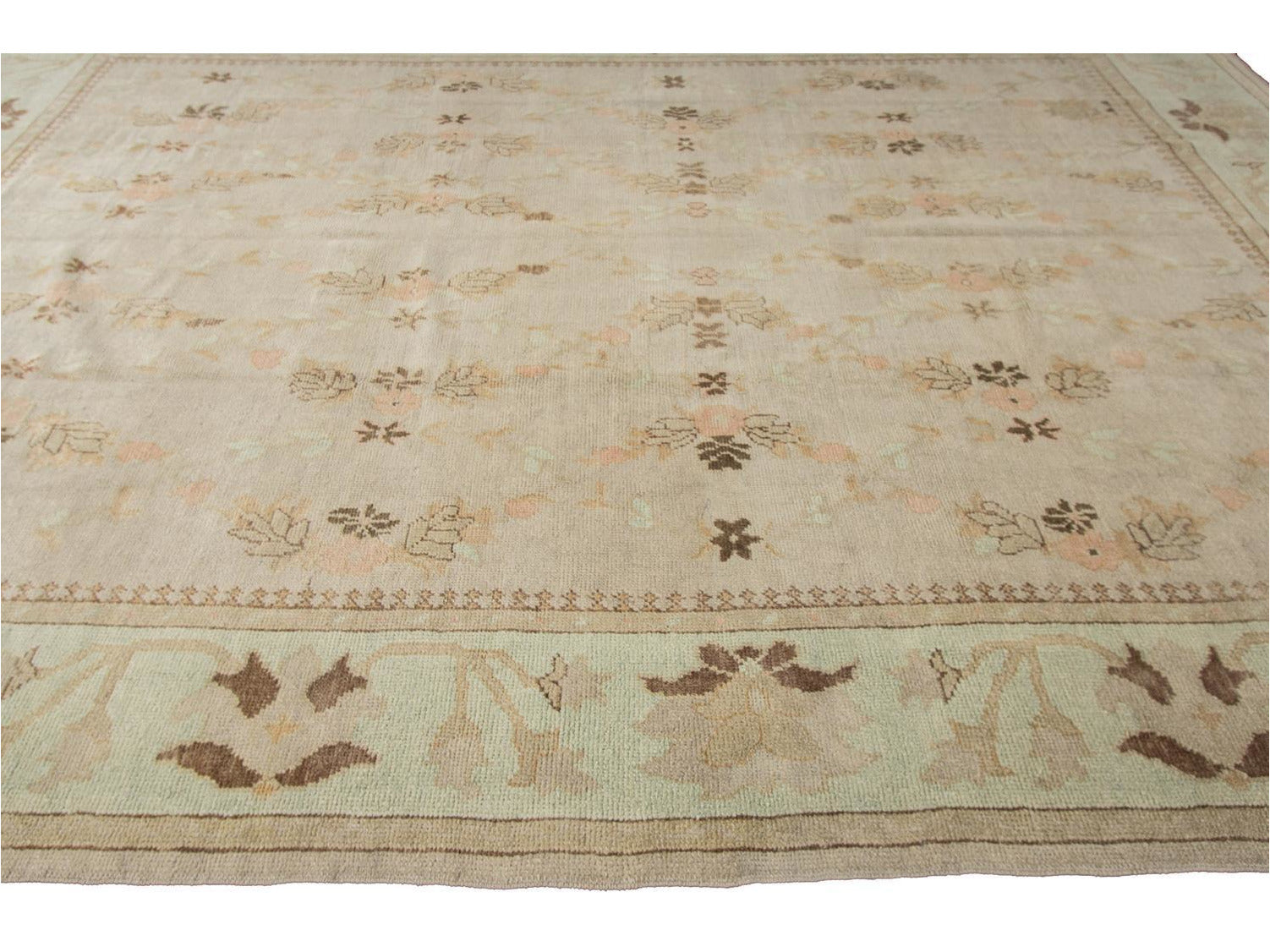 21st Century Designed Turkish Oushak Rug 10 X 15
