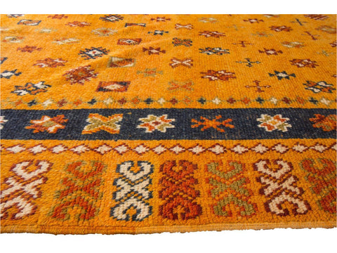 Mid 20th Century Vintage Moroccan Wool Rug 5 X 13