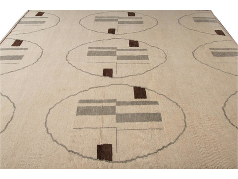 21st Century Contemporary Moroccan Wool Rug 9 X 10