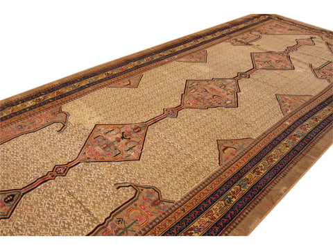 Late 19th Century Antique Serab Wool Rug, 7' x 17'