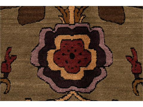 21st Century Contemporary Khotan Style Wool Rug 8 X 10