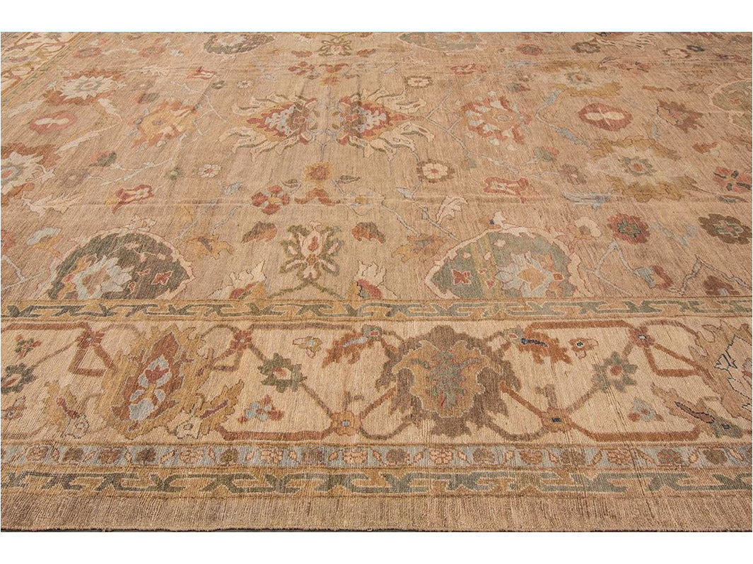 Contemporary Sultanabad Oversize Wool Rug 14 X 20