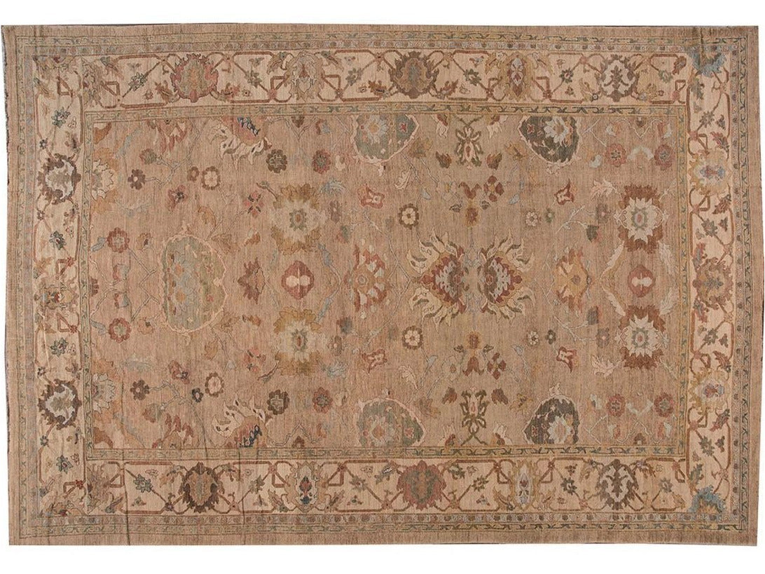 21st Century Contemporary Sultanabad Oversize Wool Rug 14 X 20