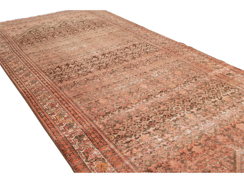 Antique Malayer Wool Runner 6 x 14