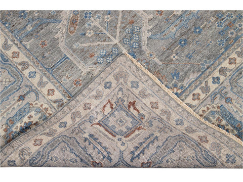 21st Century Contemporary Tabriz Style Square Wool Rug 10 X 10