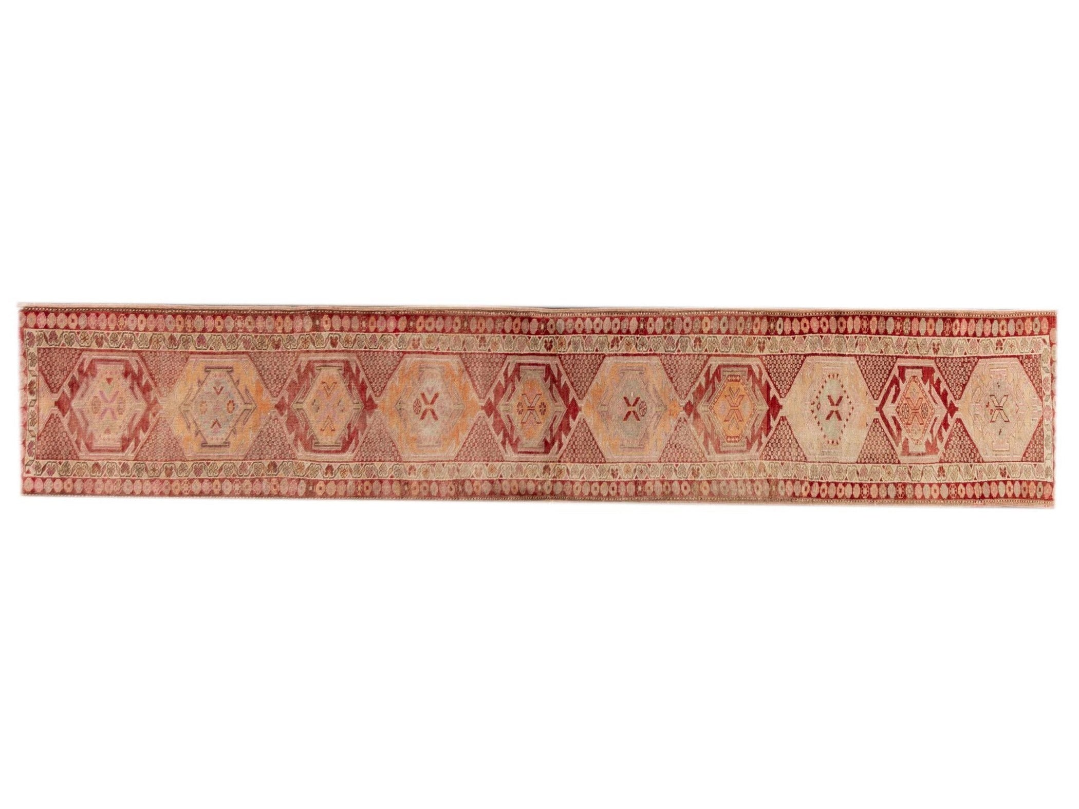 20th Century Vintage Turkish Runner Rug, 3X15