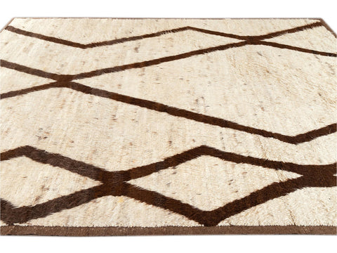 21st Century Modern Moroccan Style Wool Rug 9 X 11